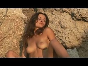 nude erotic beauty near the sea